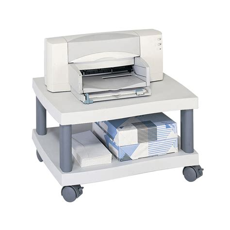 under desk printer stand wave under desk printer stand by safco in printer stands