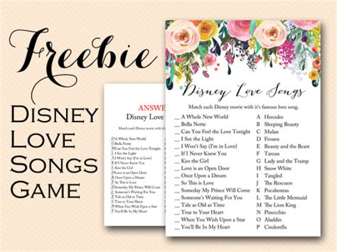 free printable bridal shower games and answers free disney love song bridal shower game bridal shower