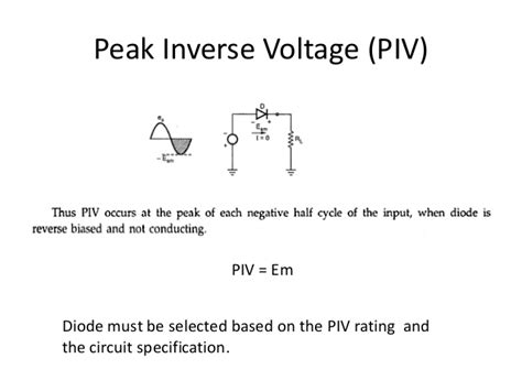 what is piv of diode rectifiers