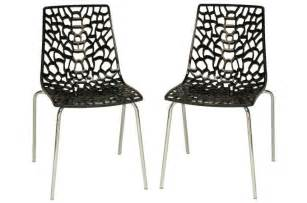 lot de 2 chaises anthracites traviata chaises design pas