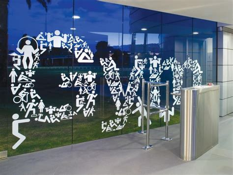 Fitness World Graphic 1 there window decals graphics vinyl