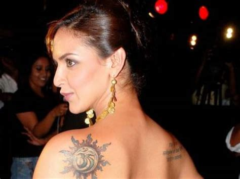 tattoo name shivam entertainment world esha deol tattoo