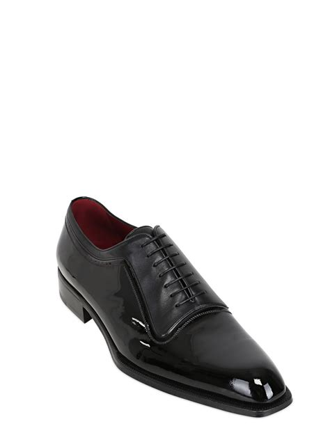 a testoni shoes a testoni patent nappa leather oxford shoes in black for