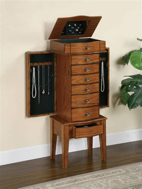 powell woodland oak jewelry armoire powell woodland oak jewelry armoire with lift off jewelry box 604 317 homelement com