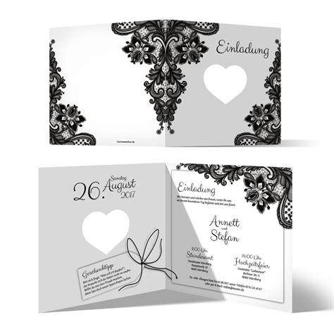 Einladungskarten Hochzeit Schwarz by Lasergeschnittene Hochzeit Einladungskarten Rustikal