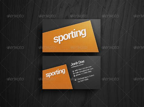 athletic business card template 23 sports business card templates free premium