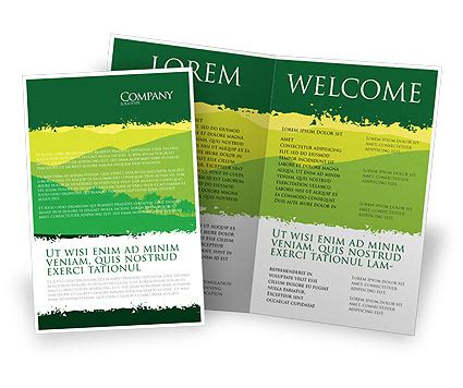 landscape brochure template mountain landscape brochure template design and layout