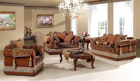 Traditional Living Room Furniture Sets Genevieve Luxury Living Room Sofa Set