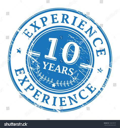 Mba After 4 Years Of Experience In It by Grunge Rubber St Text 10 Years Stock Vector 103675973