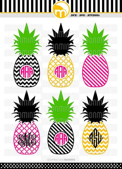 printing on vinyl with cricut pineapple monogram frames svg dxf studio3 cut by