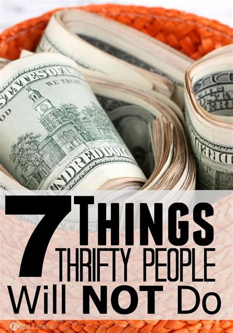 thrifty people    saving tips