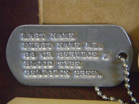 us army tags id tags tags tag veteran stainless iraq ebay