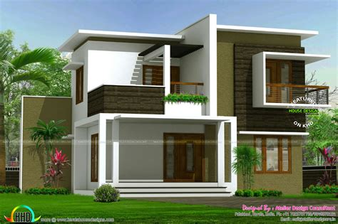Contemporary box model home architecture   Kerala home