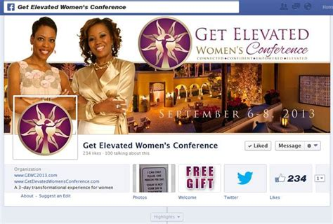 Free Facebook Sweepstakes App - get elevated women s conference facebook timeline free giveaway app customtwit com
