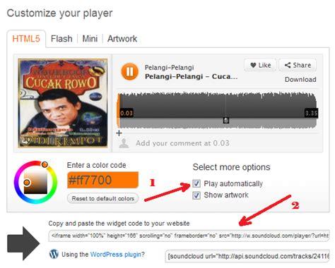 Cara Memasang Musik Di Blog Wordpress   cara memasang lagu atau musik di blog wordpress info