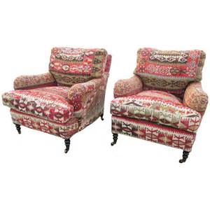 two george smith kilim armchairs at 1stdibs