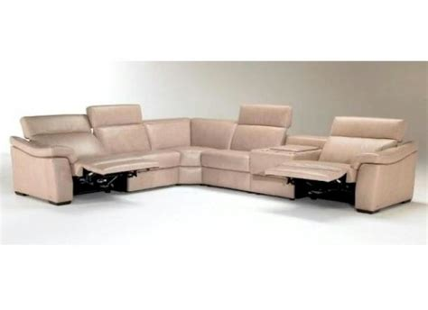 natuzzi reclining sectional sofa natuzzi editions b760 leather sectional collier s