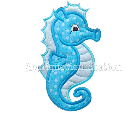 embroidery and applique designs seahorse applique machine embroidery design pattern