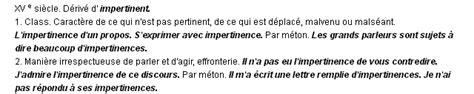 Lettre De Recommandation Synonyme impertinence la d 233 finition du terme quot impertinence quot