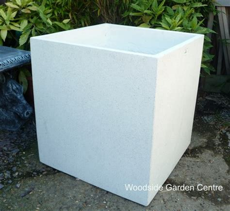 White Square Outdoor Planters by Large White Terrazzo 70cm Square Pot Planters Woodside