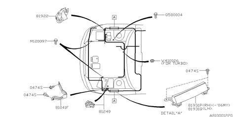 81202ag20a Genuine Subaru Wiring Harness Front Usa