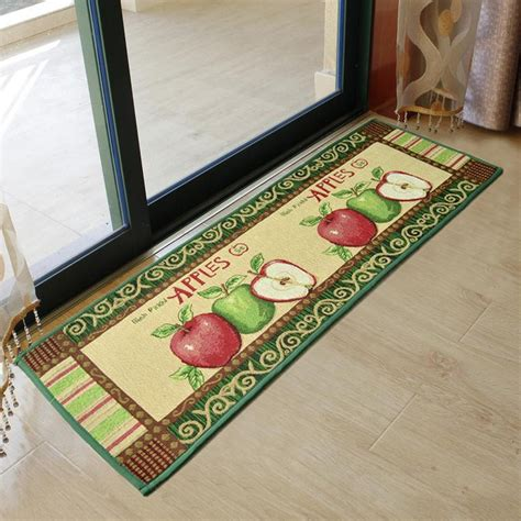 vintage kitchen rugs yazi sale vintage country apples kitchen rug runner floor carpet door mat 120x45cm in mat