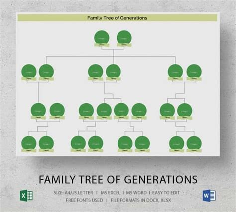 Simple Family Tree Template 25 Free Word Excel Pdf Format Download Free Premium Templates Easy To Use Family Tree Template