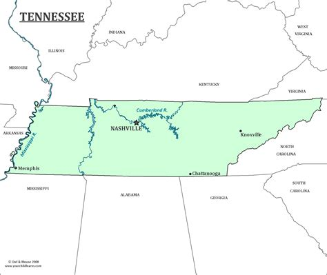 map of tennessee with cities tennessee state map map of tennessee and information