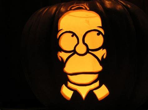 picture of homer simpson pumpkin