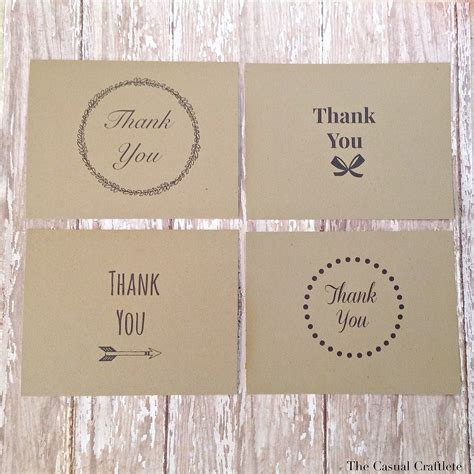 Mini Thank You Cards Template by Be My Guest Printable Thank You Cards By The Casual