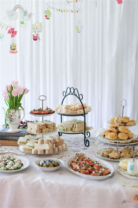 food ideas for afternoon bridal shower afternoon tea baby shower sandwiches simple bites