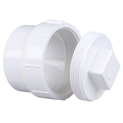 Clean Out Pvc 4 nibco 4 in pvc dwv spg x f cleanout adapter with