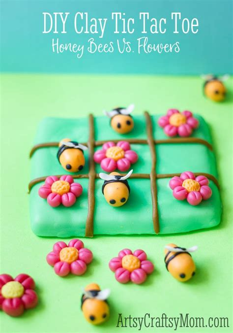 clay crafts easy clay bee tic tac toe craft