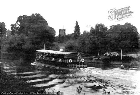 boat shop worcester worcester the old water tower from the river severn 1906