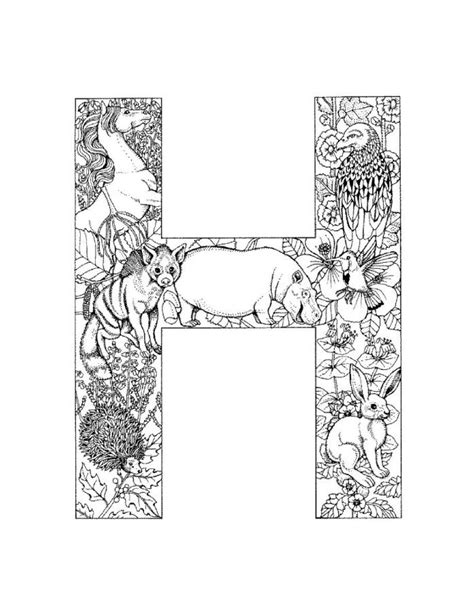 H Coloring Pages For Adults by Who Think Alphabet Coloring Pages