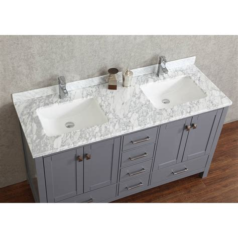 grey wood bathroom vanity buy vincent 72 inch solid wood double bathroom vanity in