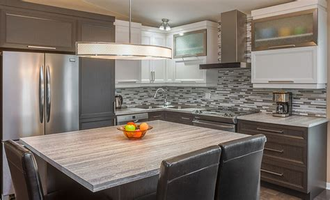 Mission Style Cabinets Kitchen armoire de cuisine en polyester cuisirama