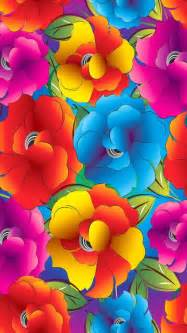 bright colored flowers iphone wallpaper bright rainbow floral curved color