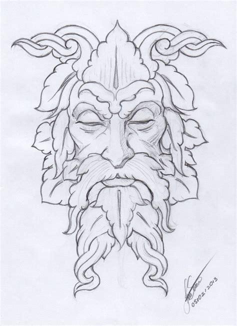 sketch create pattern making of the greenman