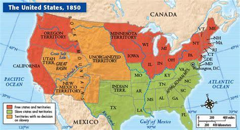 united states map in 1850 macmillan mcgraw hill california vistas 2007