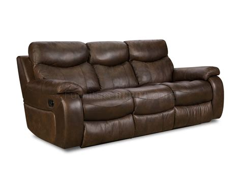 Sofa Premium brown top grain premium leather modern reclining sofa w