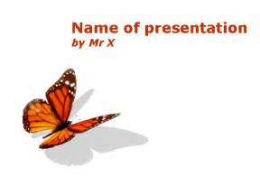 butterfly powerpoint template orange butterfly insect design powerpoint template