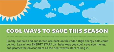 Cool Ways To In Summer by Stay Cool Save Energy This Summer Infographic