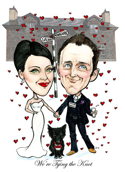 wedding invitations caricature drawing wedding invitation artwork caricatures ireland by allan