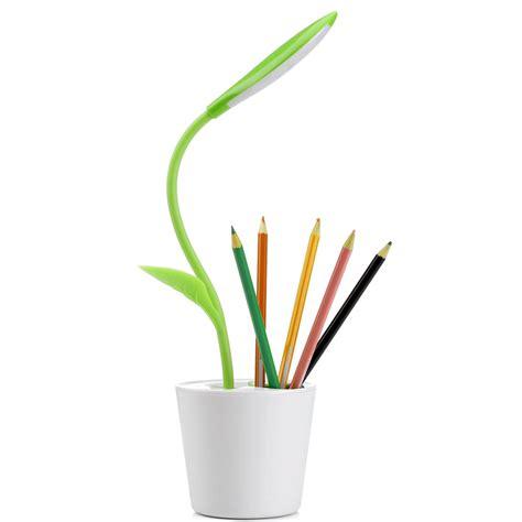 lu meja touch sensitive dimmable dengan pen holder light green jakartanotebook