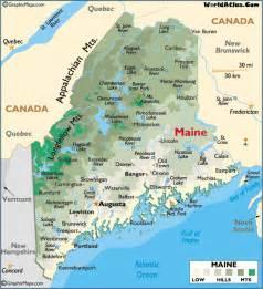 map of maine usa and new brunswick canada maine state naseo