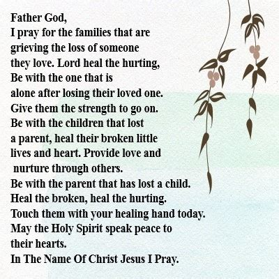 Christian Images In My Treasure Box Prayer For The Grieving