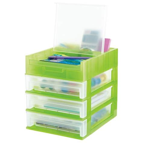 3 Drawer Desktop Organizer The Container Store Container Store Desk Organizer