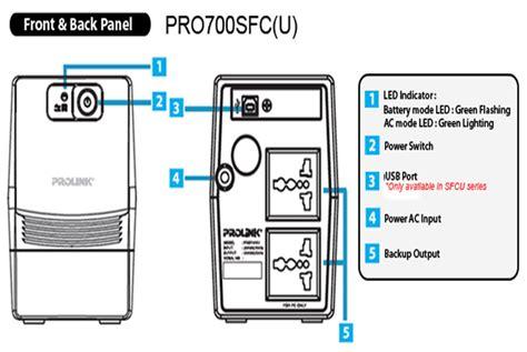 Ups Prolink Pro 700 650va Sfc ups prolink pro700sfc 650va