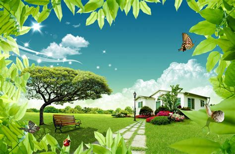 fresh home environment psd material millions